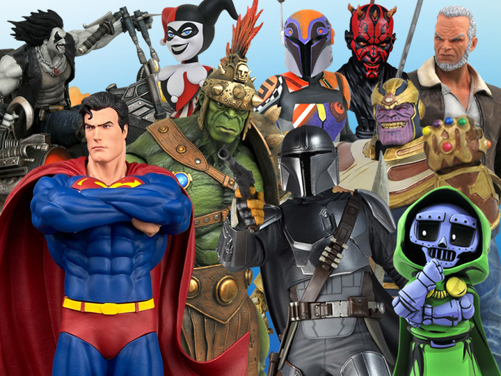 DST: Select Hulk & Thanos - DC Superman, Lobo & Harley - Star Wars Mandalorian, Sabine & Darth Maul