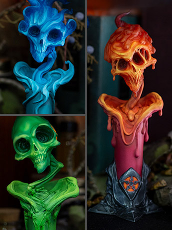 Court of the Dead Faction Candle Statue Set
