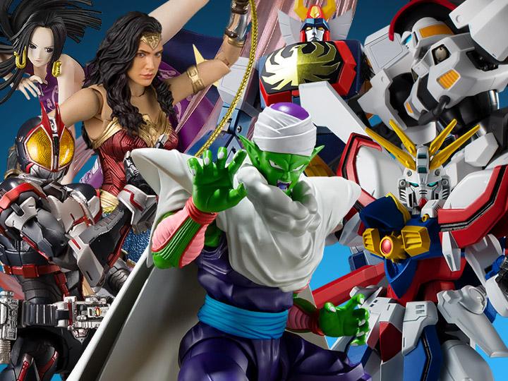 Bandai: Piccolo, Wonder Woman, Gundam Universe, Boa Hancock, Kamen Rider, Soul of Chogokin