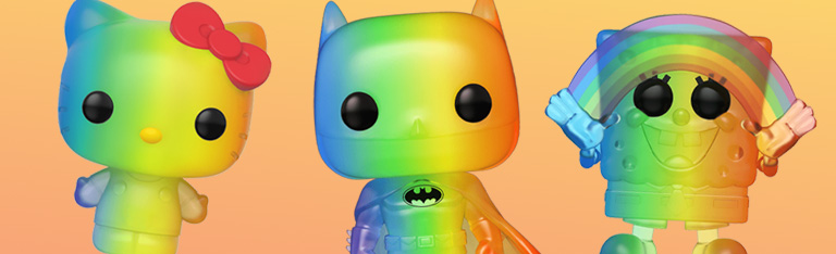 In Stock: Funko Pop! Pride 2020 - Batman, Spongebob, Hello Kitty