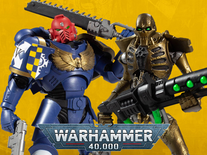 McFarlane Warhammer 40k Ultramarines Primaris Assault Intercessor & Necron Warrior