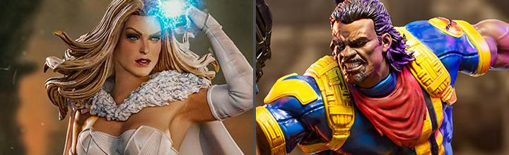 X-Men Battle Diorama Series Emma Frost & Bishop 1/10 Art Scale Statue