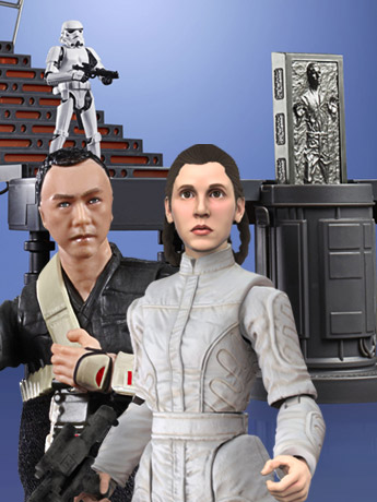 Star Wars: The Vintage Collection Carbon Freezing Chamber, Bespin Escape Leia & Chirrut Imwe