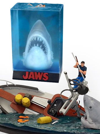 Jaws Dioramas: Orca Boat & 3D Poster