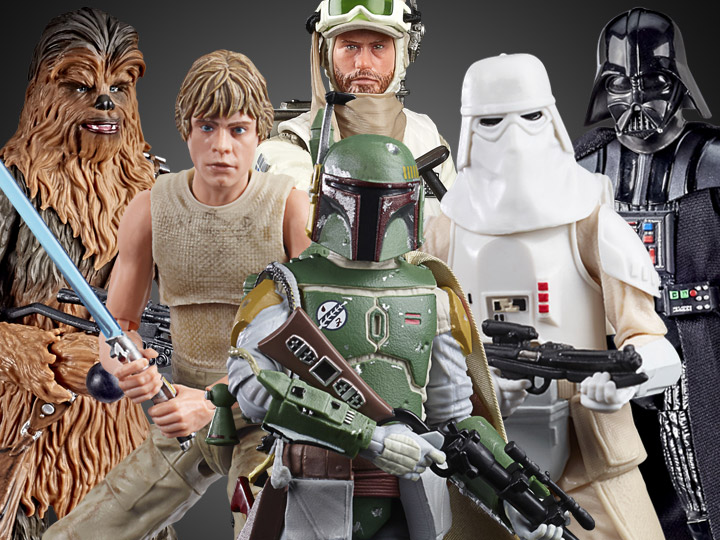Star Wars: The Black Series Boba Fett, Luke, Chewbacca, Vader, Snowtrooper & Hoth Rebel