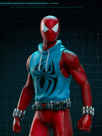 Spider-Man (2018 Video Game) Spider-Man (Scarlet Spider Suit) 1/10 Scale Statue
