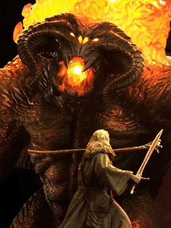 The Lord of the Rings Premium Masterline Gandalf Versus Balrog Limited Edition Statue
