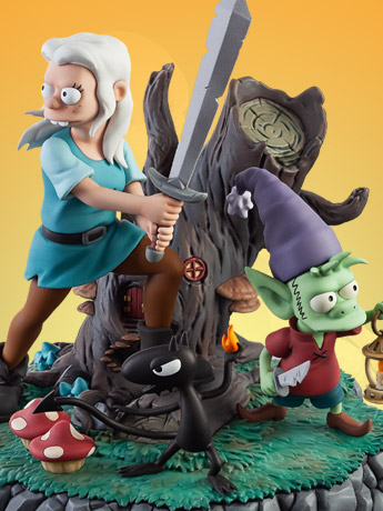 Disenchantment The Princess The Elf and The Demon Statue