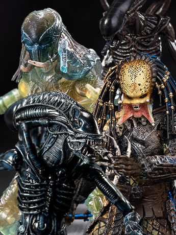 Hiya Toys 1:18 Alien & Predator