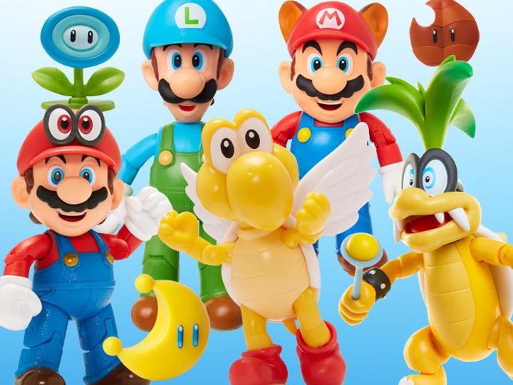 """World of Nintendo 2.50"""" & 4"""" Figures"""