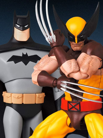 MAFEX Batman: The New Batman Adventures & Wolverine (Brown Costume)