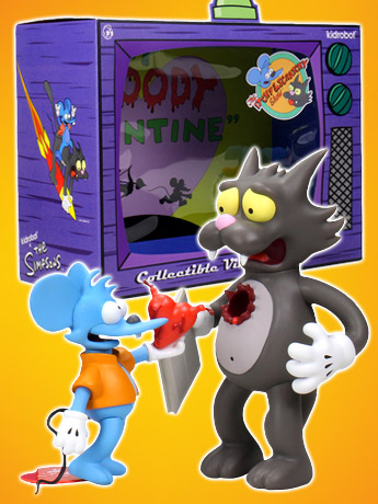 The Simpsons Itchy and Scratchy Figure Set