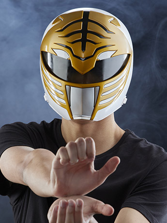 Mighty Morphin Power Rangers Lightning Collection White Ranger 1:1 Scale Wearable Helmet