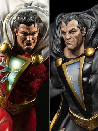 DC Rebirth Black Adam & Shazam! LE Statues