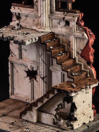 Ruins Of Building 1/12 Scale Diorama Base B