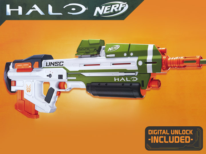 Halo Infinite Nerf MA40 Motorized Dart Blaster (With Game Code)