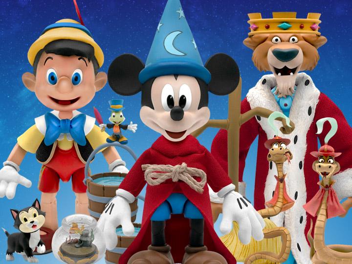 Disney Ultimates The Sorcerer's Apprentice Mickey, Pinocchio & Prince John