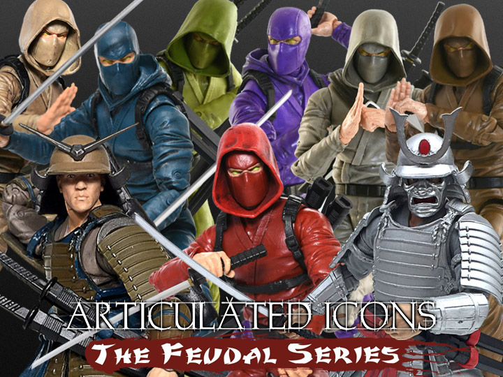Articulated Icons Samurai and Ninja 6-Inch Figures