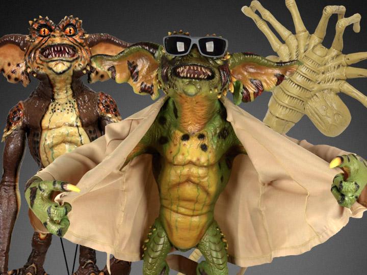 NECA Life-Size Facehugger & Gremlins