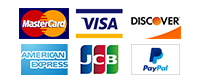 We accept Visa, Mastercard, Discover, American Express, JCB, and Paypal payment methods.